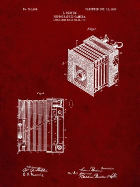 PP753-Burgundy Borsum Camera Co Reflex Camera Patent Poster by Cole Borders