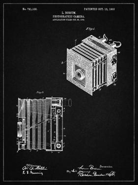 PP753-Vintage Black Borsum Camera Co Reflex Camera Patent Poster by Cole Borders