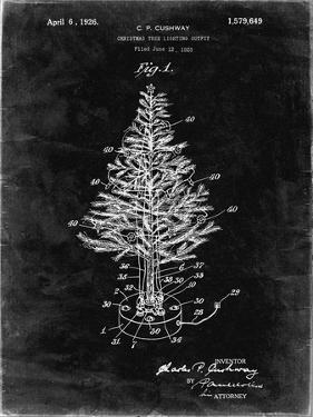 PP766-Black Grunge Christmas Tree Poster by Cole Borders