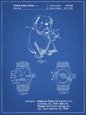 PP784-Blueprint Dog Watch Clock Patent Poster by Cole Borders
