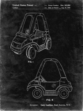 PP816-Black Grunge Fisher Price Toy Car Patent Poster by Cole Borders