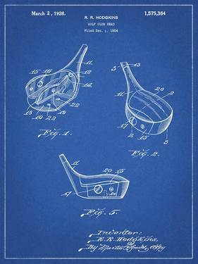 PP858-Blueprint Golf Fairway Club Head Patent Poster by Cole Borders