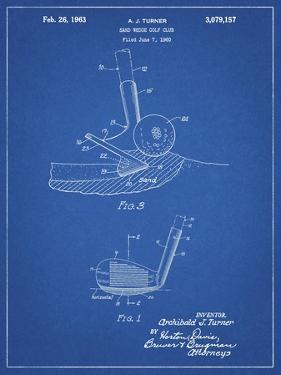 PP859-Blueprint Golf Sand Wedge Patent Poster by Cole Borders