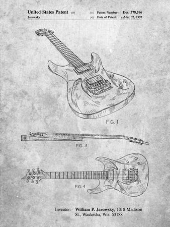 PP888-Slate Ibanez Pro 540RBB Electric Guitar Patent Poster