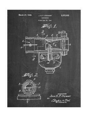 PP891-Chalkboard Indian Motorcycle Carburetor Patent Poster by Cole Borders