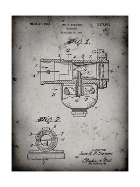 PP891-Faded Grey Indian Motorcycle Carburetor Patent Poster by Cole Borders