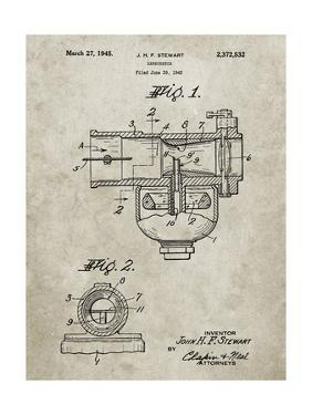 PP891-Sandstone Indian Motorcycle Carburetor Patent Poster by Cole Borders