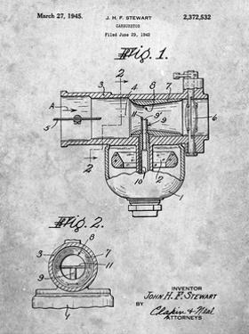 PP891-Slate Indian Motorcycle Carburetor Patent Poster by Cole Borders