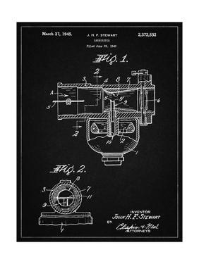 PP891-Vintage Black Indian Motorcycle Carburetor Patent Poster by Cole Borders