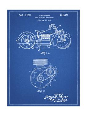 PP892-Blueprint Indian Motorcycle Drive Shaft Patent Poster by Cole Borders