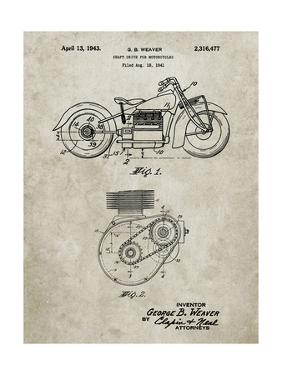 PP892-Sandstone Indian Motorcycle Drive Shaft Patent Poster by Cole Borders