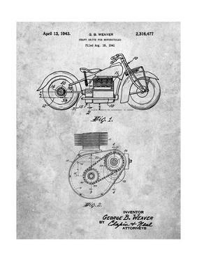 PP892-Slate Indian Motorcycle Drive Shaft Patent Poster by Cole Borders