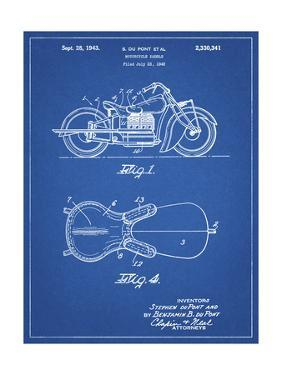 PP893-Blueprint Indian Motorcycle Saddle Patent Poster by Cole Borders