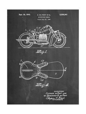 PP893-Chalkboard Indian Motorcycle Saddle Patent Poster by Cole Borders