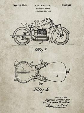 PP893-Sandstone Indian Motorcycle Saddle Patent Poster by Cole Borders