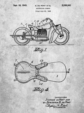 PP893-Slate Indian Motorcycle Saddle Patent Poster by Cole Borders