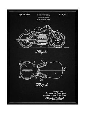 PP893-Vintage Black Indian Motorcycle Saddle Patent Poster by Cole Borders