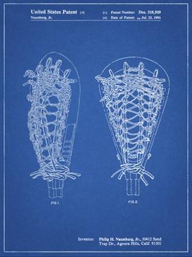 PP916-Blueprint Lacrosse Stick Patent Poster by Cole Borders