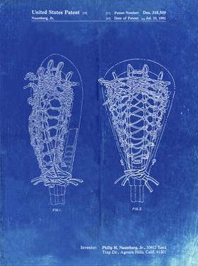 PP916-Faded Blueprint Lacrosse Stick Patent Poster by Cole Borders
