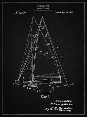 PP942-Vintage Black Ljungstrom Sailboat Rigging Patent Poster by Cole Borders