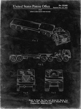 PP946-Black Grunge Lockheed Ford Truck and Trailer Patent Poster by Cole Borders