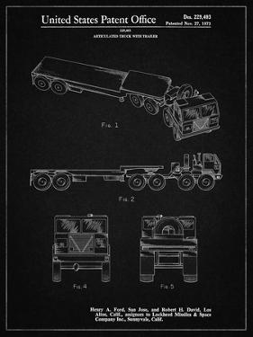 PP946-Vintage Black Lockheed Ford Truck and Trailer Patent Poster by Cole Borders