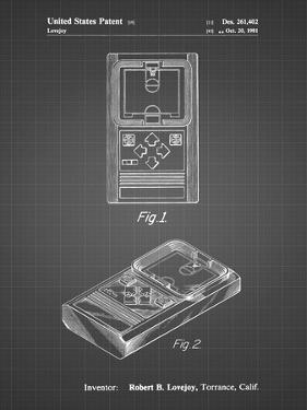 PP950-Black Grid Mattel Electronic Basketball Game Patent Poster by Cole Borders