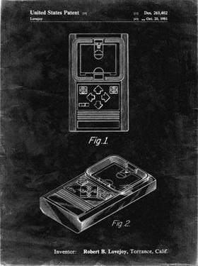 PP950-Black Grunge Mattel Electronic Basketball Game Patent Poster by Cole Borders