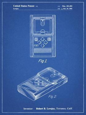 PP950-Blueprint Mattel Electronic Basketball Game Patent Poster by Cole Borders