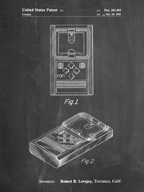 PP950-Chalkboard Mattel Electronic Basketball Game Patent Poster by Cole Borders
