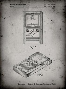 PP950-Faded Grey Mattel Electronic Basketball Game Patent Poster by Cole Borders