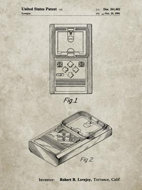 PP950-Sandstone Mattel Electronic Basketball Game Patent Poster by Cole Borders