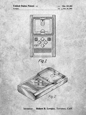 PP950-Slate Mattel Electronic Basketball Game Patent Poster by Cole Borders