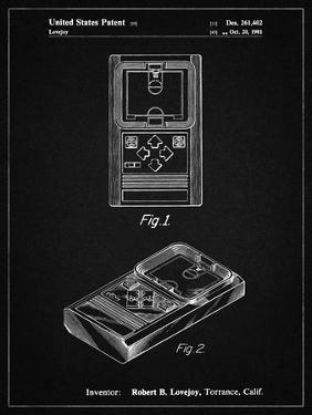 PP950-Vintage Black Mattel Electronic Basketball Game Patent Poster by Cole Borders