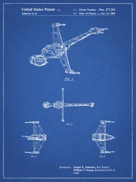 PP96-Blueprint Star Wars B-Wing Starfighter Patent Poster by Cole Borders