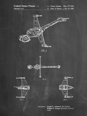 PP96-Chalkboard Star Wars B-Wing Starfighter Patent Poster by Cole Borders