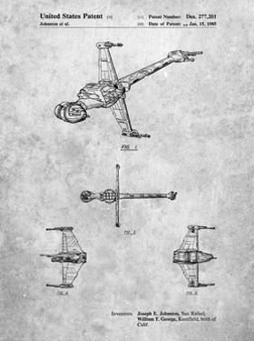 PP96-Slate Star Wars B-Wing Starfighter Patent Poster by Cole Borders