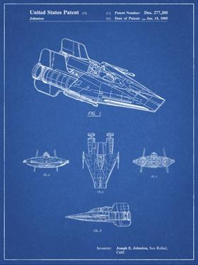 PP97-Blueprint Star Wars RZ-1 A Wing Starfighter Patent Poster by Cole Borders