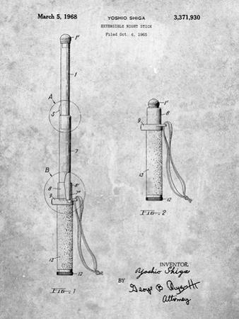 PP970-Slate Night Stick Patent Poster by Cole Borders