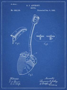 PP976-Blueprint Original Shovel Patent 1885 Patent Poster by Cole Borders