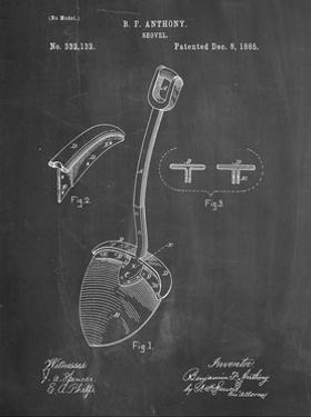 PP976-Chalkboard Original Shovel Patent 1885 Patent Poster by Cole Borders