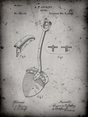 PP976-Faded Grey Original Shovel Patent 1885 Patent Poster by Cole Borders