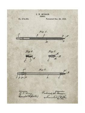 PP984-Sandstone Pencil Patent Poster by Cole Borders