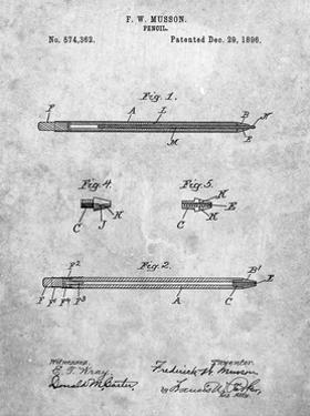 PP984-Slate Pencil Patent Poster by Cole Borders