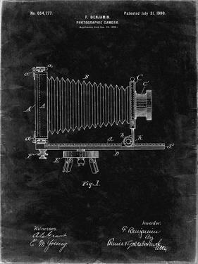 PP985-Black Grunge Photographic Camera Patent Poster by Cole Borders