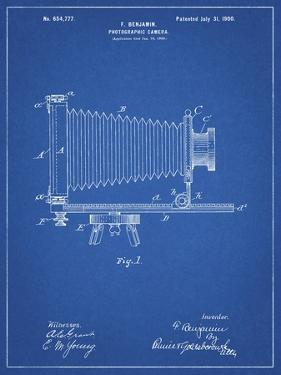 PP985-Blueprint Photographic Camera Patent Poster by Cole Borders