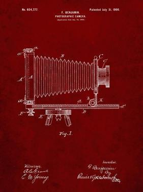 PP985-Burgundy Photographic Camera Patent Poster by Cole Borders