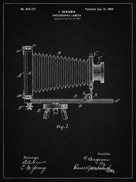 PP985-Vintage Black Photographic Camera Patent Poster by Cole Borders