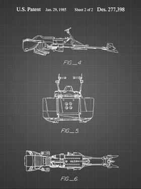 PP99-Black Grid Star Wars Speeder Bike Patent Poster by Cole Borders