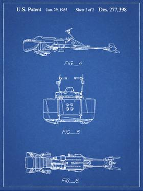 PP99-Blueprint Star Wars Speeder Bike Patent Poster by Cole Borders